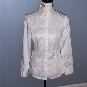 THE LIMITED white button down tailored top small